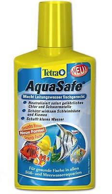 2x Tetra AquaSafe 500ml DUO FISH TANK TAP SAFE WATER CONDITIONER DECHLORINATOR