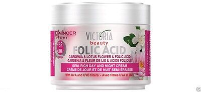 Gardenia +  Folic & Hyaluronic Acid Anti Wrinkle Face Day Night Cream Age 50 +