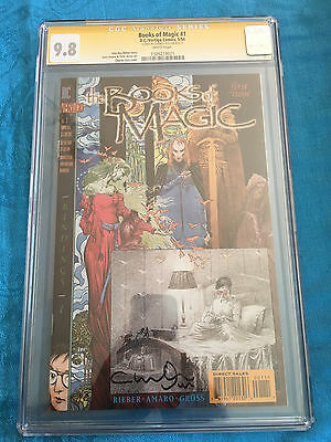 Books of Magic #1 - DC - CGC SS 9.8 NM/MT - Signed by Charles Vess