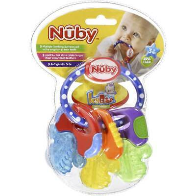 Brand New Nuby Icybite Key Teether 3m+ BPA Free Cool Gel Teething Toy