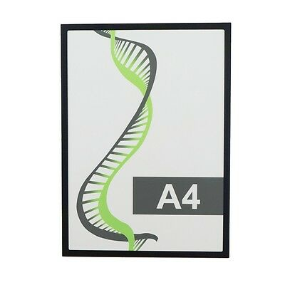 Magnetic document display pockets poster holder cover sheet coloured A4