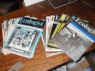 1975 & 1976 The Ecologist Magazine - Full Sets - 21 mags - Superb Condition !