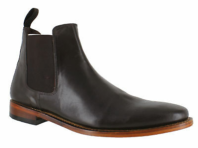 32d3da9550695 Catesby Mens Dark Brown Chelsea Goodyear Welted Sole Leather Ankle Boots