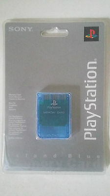 Carte Mémoire Officielle Sony Playstation Ps1 Psx - Island Blue Memory Card Neuf