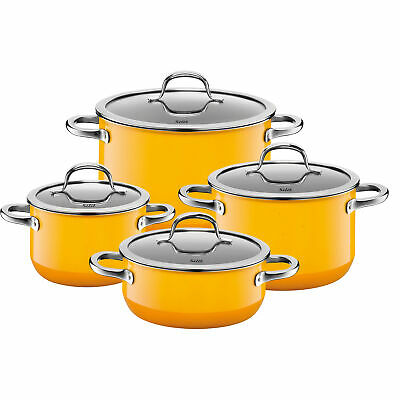 Silit Topf-Set 4-teilig Passion Yellow Schüttrand Made in Germany Hohlgriffe