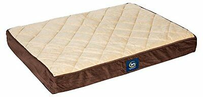 Serta DOG BED, Large Orthopedic Quilted Pillowtop PET BED,  Brown