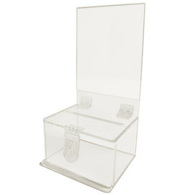 MCB Clear Acrylic Donation And Suggestion Box,Ballot Box,Ticket Box With Lock