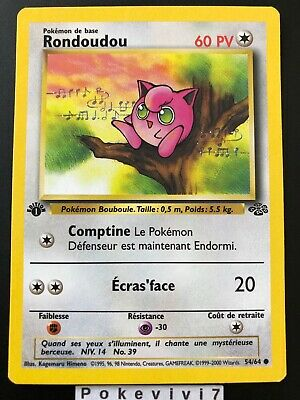 Carte Pokemon RONDOUDOU 54/64 Jungle Wizard Neuve Française EDITION 1