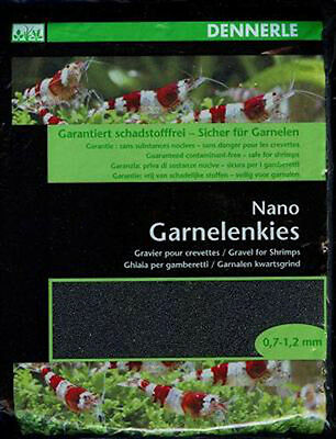 Dennerle Nano Shrimp Gravel Sulawesi Black 2kg - Specifically for Shrimp