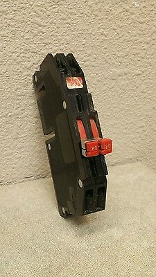 Zinsco Rc38-20 2 Pole 20 Amp 240 Volt Thin Circuit Breaker Used See Pictures