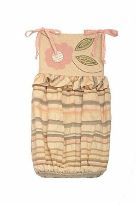 Cotton Tale Designs Blossom Diaper Stacker, Pink/Brown