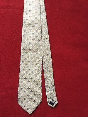 HUGO BOSS Made in Italy 100% Silk Neck Tie Patterned Geometric Design Pre owned