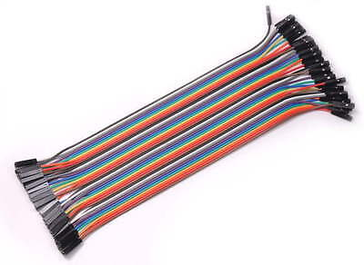 40PCS Jumper Wire Cable 1P-1P 2.54mm 20cm For Arduino Breadboard Sale New !ZK