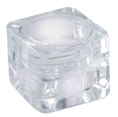25 x 3g Clear Plastic Lip Balm Small Sample Cosmetic Jars Container + Cap
