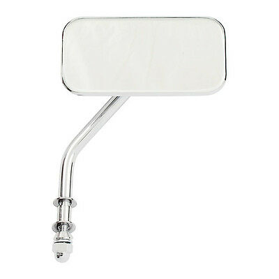 Retroviseur chrome  rectangle  pour Harley ,Bobber ,ect