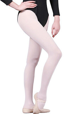 Childs Mondor 345 White Seamless Footed Tights. Ballet/ Dance/ Ice Skating. NEW!