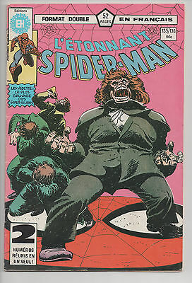 SPIDER-MAN #135/136 french comic français EDITIONS HERITAGE