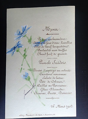 Ancien menu 1902