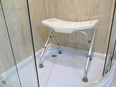 Folding Shower Stool/bench. Height adjustable.