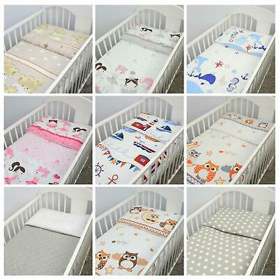 2 piece Quilt & Pillow Filling Set Fits Crib Pram Cot Baby Nursery Bedding