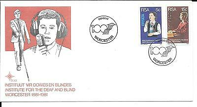 South Africa 1981 Institute for Deaf and Blind Stamps on First Day Cover