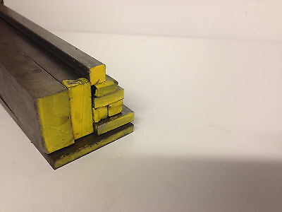 """1 Piece - 3/8"""" x 2 ft. long Square Bar C1018 Cold Rolled Mild Steel. Ships UPS"""