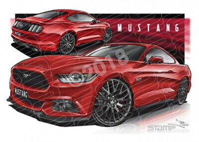 Mustang 2016 GT RUBY RED TINTED CLEARCOAT  STRETCHED CANVAS (FT350)-New_Itemq