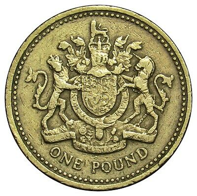 Great Britain 1 Pound coin 1983 km#933 Coat of Arms
