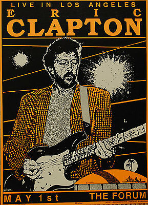 0439 Vintage Music Poster Art - Eric Clapton Live In Los Angeles