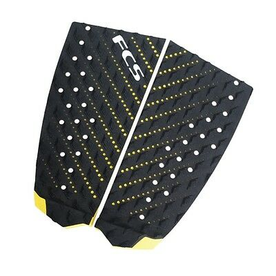 FCS T-2 Surfboard Tail Pad New Traction Deck Grip In Black/Yellow
