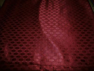 Satiny Burgundy Colored Upholstery Fabric