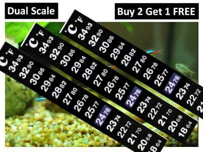 Aquarium  Thermometer For Fish Tank Brew Window Garden Lcd Flat Adhesive Strip