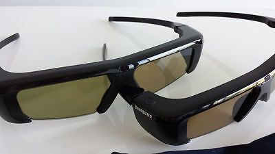 2 x SAMSUNG 3D ACTIVE GLASSES SSG-P2100T/XS GENUINE WITH CD : New No Packaging