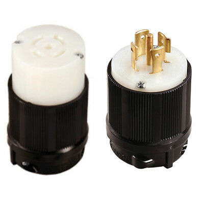 NEMA L21-20P and L21-20R Plug and Connector Set - 20A, 120/208V
