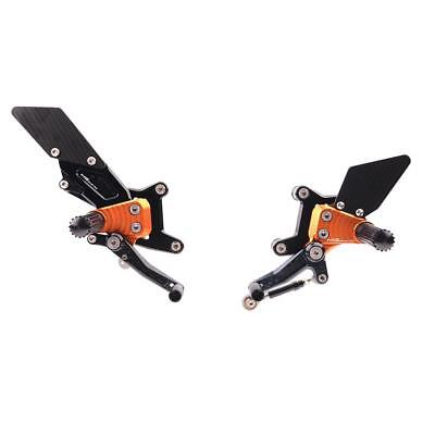 Fußrastenanlage Sport verstellbar orange MG-Biketec KTM 1290 Super Duke R ABS