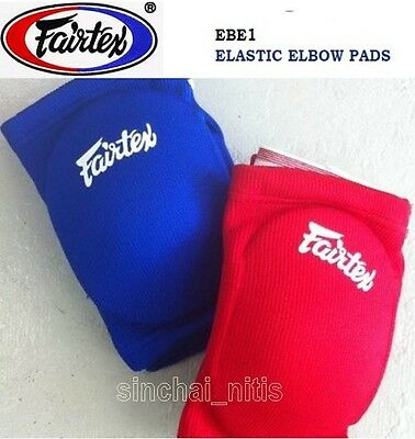 New Fairtex  Elastic Elbow Pads Guards Muay Thai Kick Boxing Mma Free Shipping