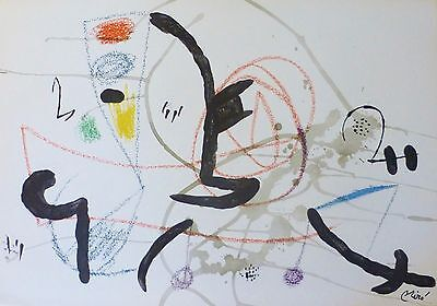 Joan Miro Maravillas acrosticas 11 signed limited to 1500 LITHOGRAPH 1975