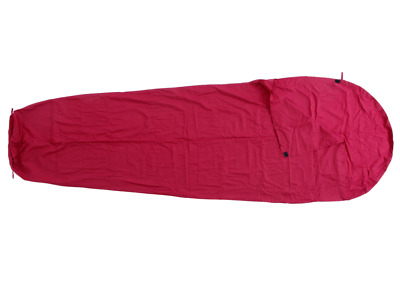 Basic Nature Cotton Lining Interior sleeping bag Mummy shape red