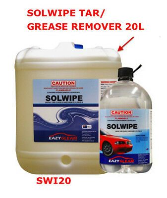 20L Solwipe Tar Grease Remover Solvent Wipe 20L Grease Remover EAZY GLEAM SWI20