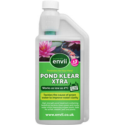 Envii Pond Klear XTRA - Bacteria Water Treatment Cleaner Clear Green Algae - 1L