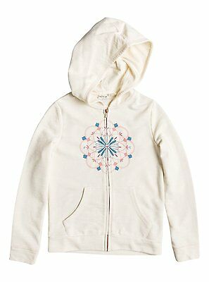 Roxy Circle Lights Girls Zipped Hoody in Sand - On Sale Now