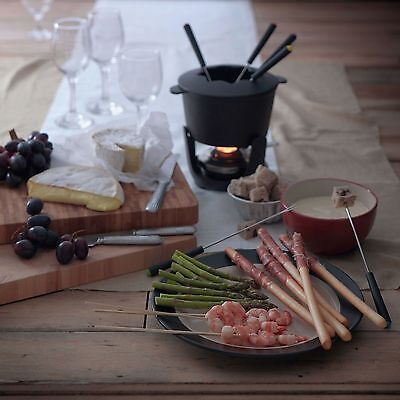 bRAND NEW Heart of House Cast Iron Fondue Set Made From Cast Iron
