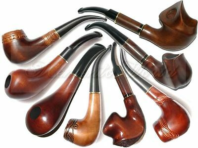 New HAND CARVED Modern SMOKING PIPE PEAR * For Choice * Handmade by Artisan
