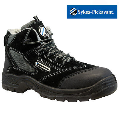 New Mens Leather Safety Work Boots Steel Toe Cap Ankle Hiker Shoes Size Uk 6-13