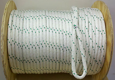 """DOUBLE BRAIDED CABLE PULLER ROPE  1/2""""X 600'  (NEW) w/spliced eyes at each end"""