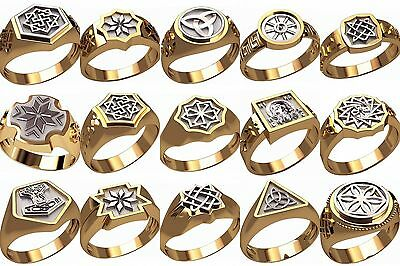 set of WAX PATTERNS (#m22) for Lost Wax Casting silver or gold Jewelry (15pcs)