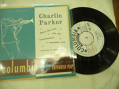 "CHARLIE PARKER"" NOW'S THE TIME-Disco 45 giri EP COLUMBIA Italy 1958"""