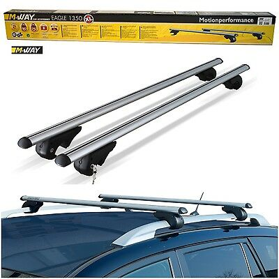 M-Way 90kg Lockable Aluminium Car Roof Rack Rail Bars for Volvo V70 (all Years)