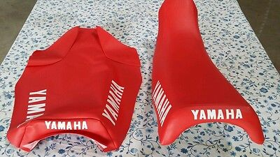 Yamaha YZ125 YZ250 YZ490 1983 to 1985  SEAT COVER RED (Y49--n6)