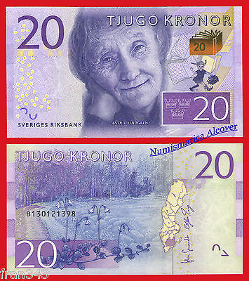 SUECIA SWEDEN 20 Kronor coronas 2015 Pick NEW SC /  UNC